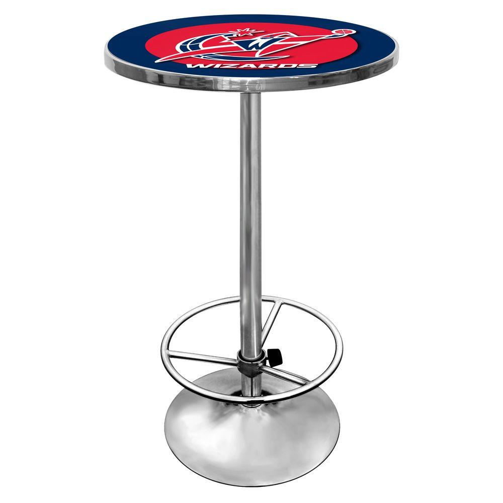 NBA Washington Wizards Chrome Pub/Bar Table, Washington W...