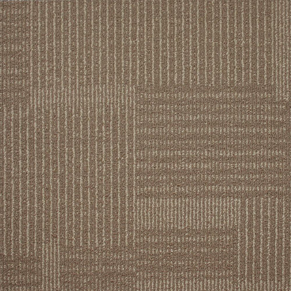Windsor Terrace Travertine Loop 19.7 in. x 19.7 in. Carpet Tile (20 Tiles/Case)