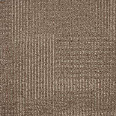Windsor Terrace Travertine Loop 19.7 in. x 19.7 in. Carpet Tile (20 Tiles/Case)