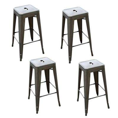 Loft Style 30 In. Stackable Metal Bar Stool ...