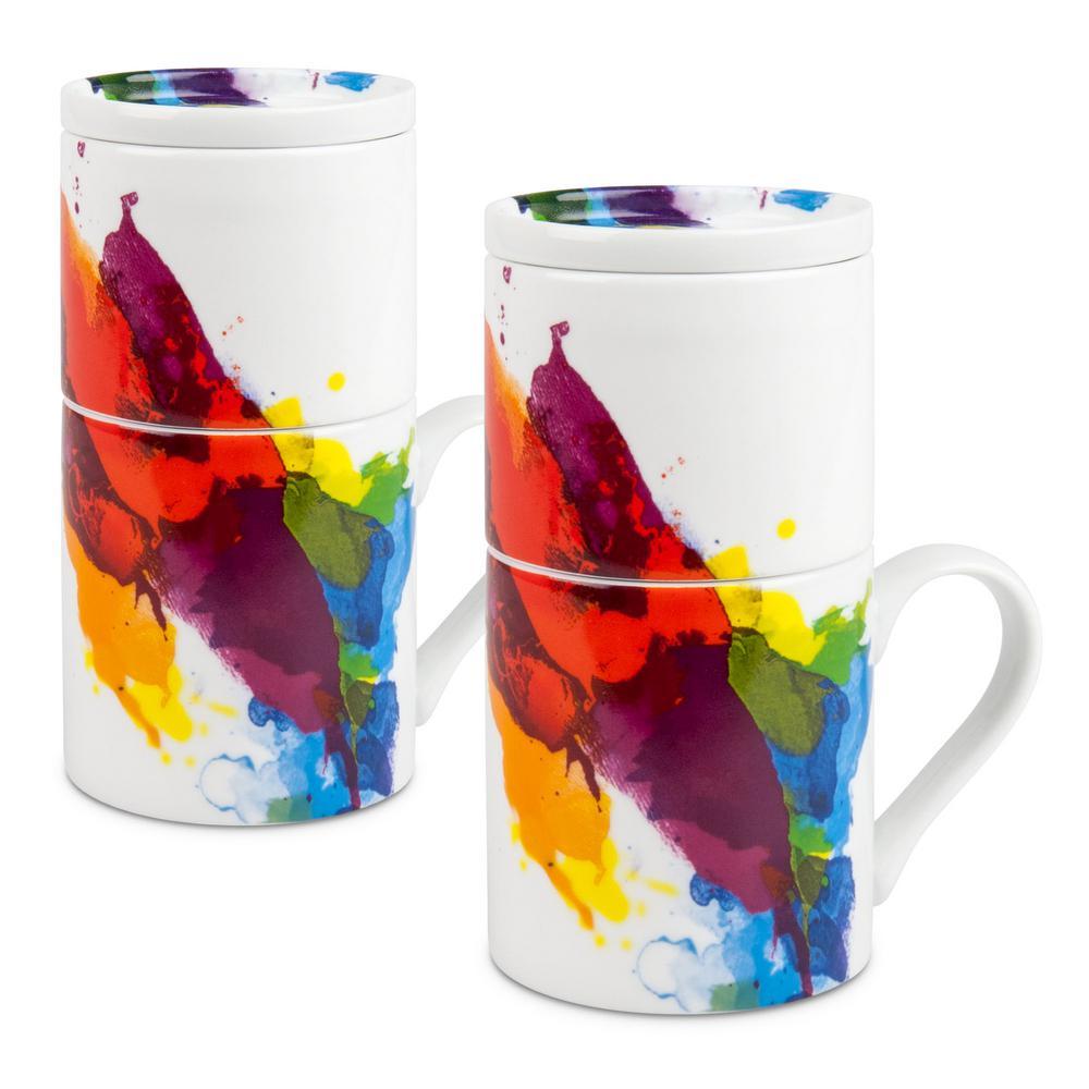 Konitz 2-Piece Coffee for One on Color Porcelain Slow Drip Mug Set