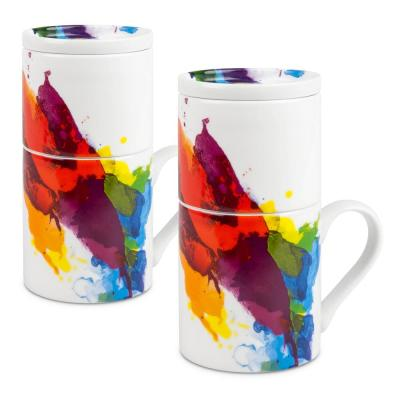 Konitz 2-Piece Coffee for One on Color Porcelain Slow Drip Mug Set