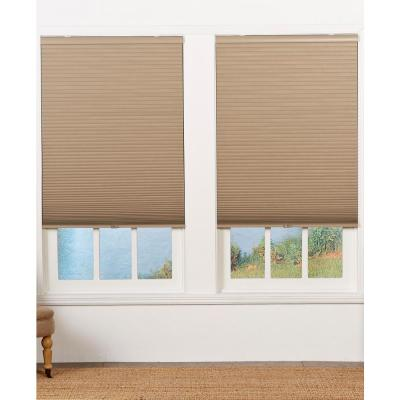 Perfect Lift Window Treatment Cut To Width Sand 1 5in Blackout Cordless Cellular Shade 63 5in W X 48in L Actual Size 63 5in W X 48in L Qesnwt634480 The Home Depot