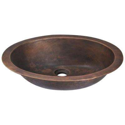 Dual-Mount Bathroom Sink in Bronze
