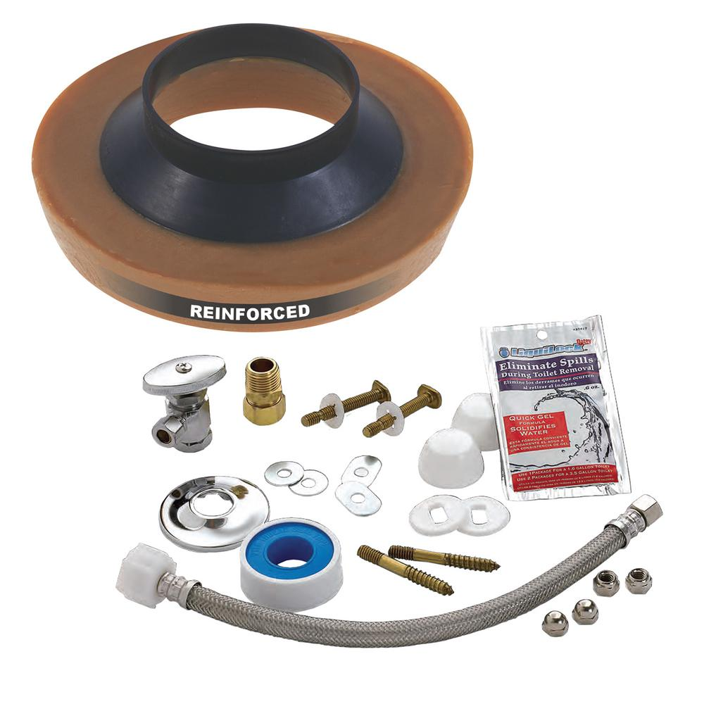 Everbilt No-Seep #3 Toilet Installation Kit for Wall Water Supply