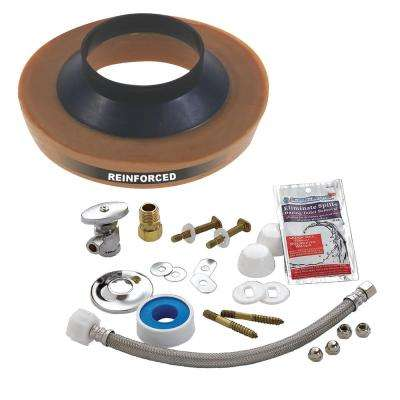 No-Seep #3 Toilet Installation Kit for Wall Water Supply