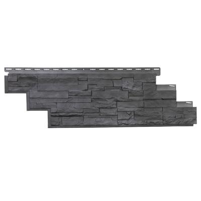 Dry Stacked Stone 41-1/2 in. x 13-1/8 in. Anthracite Vinyl Siding (10-Pack)