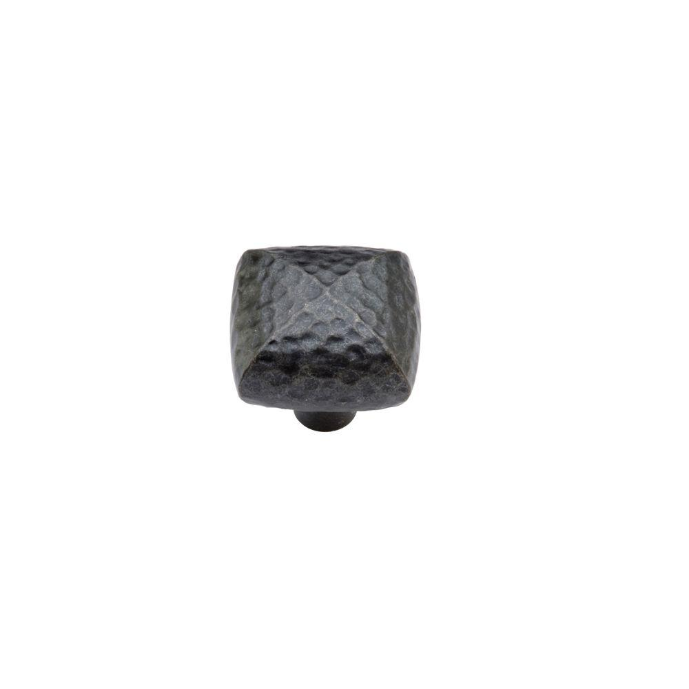 Hickory Hardware Mountain Lodge 1-1/4 in. Black Cabinet Knob