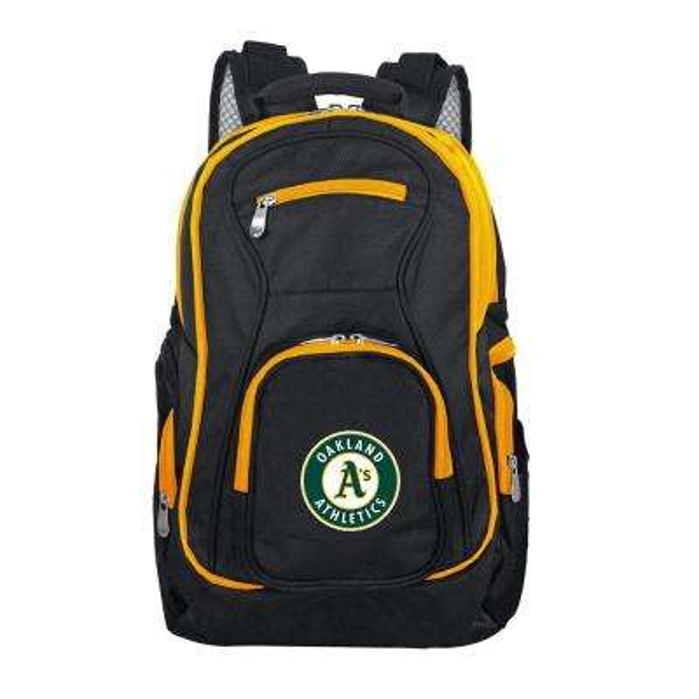 MLB Oakland Athletics 19 in. Black Trim Color Laptop Backpack