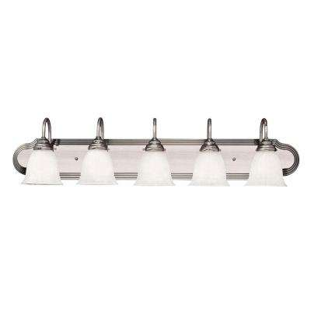 5-Light Satin Nickel Bath Bar Light