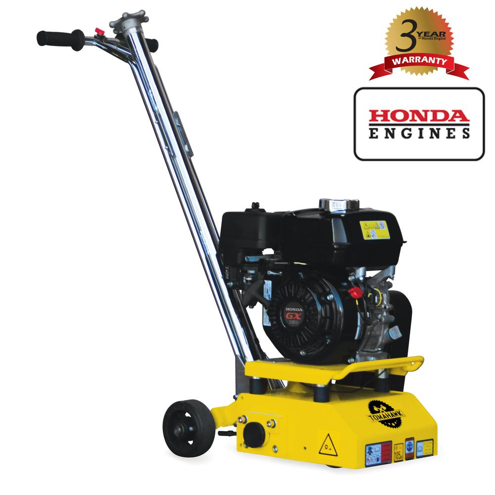 Tomahawk Power 8 in  Gas Concrete Scarifier Planer Grinder with 5 5 HP  Honda Engine OSHA Compliant