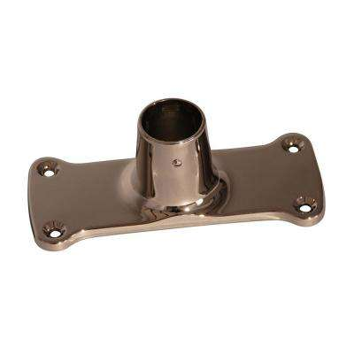 1.12 in. Jumbo Rectangular Shower Rod Flanges in Polished Nickel
