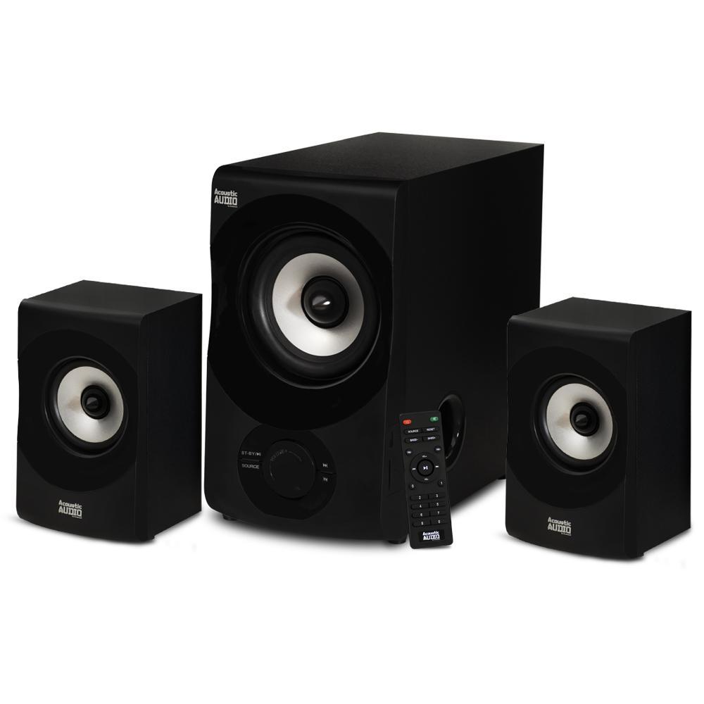 Acoustic Audio Bluetooth 2.1 Multimedia Speaker System (3-Piece Set)