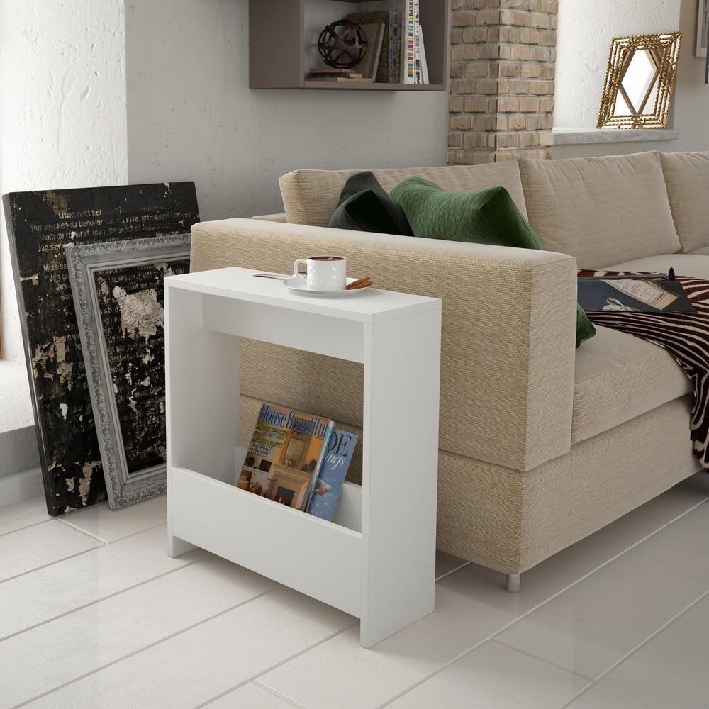 Living Room Modern Side Table Design.Selma White Modern Side Table