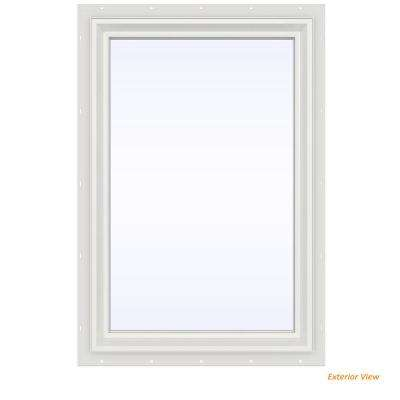 23.5 in. x 35.5 in. V-2500 Series White Vinyl Picture Window w/ Low-E 366 Glass