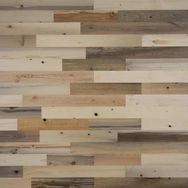 Timberchic 1/8 in. x 3 in. x 12-42 in. Peel and Stick Natural Wooden Decorative Wall Paneling (10 sq. ft./Box)