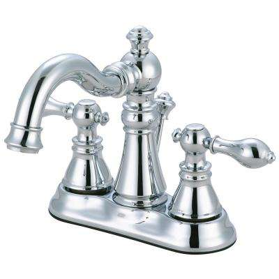 American Classic 4 in. Centerset 2-Handle Bathroom Faucet in Chrome
