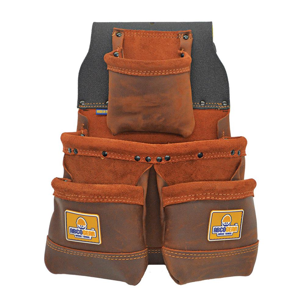 11 in. 4-Pocket Elite Series Tool Pouch with Side-by-Side Front Pockets