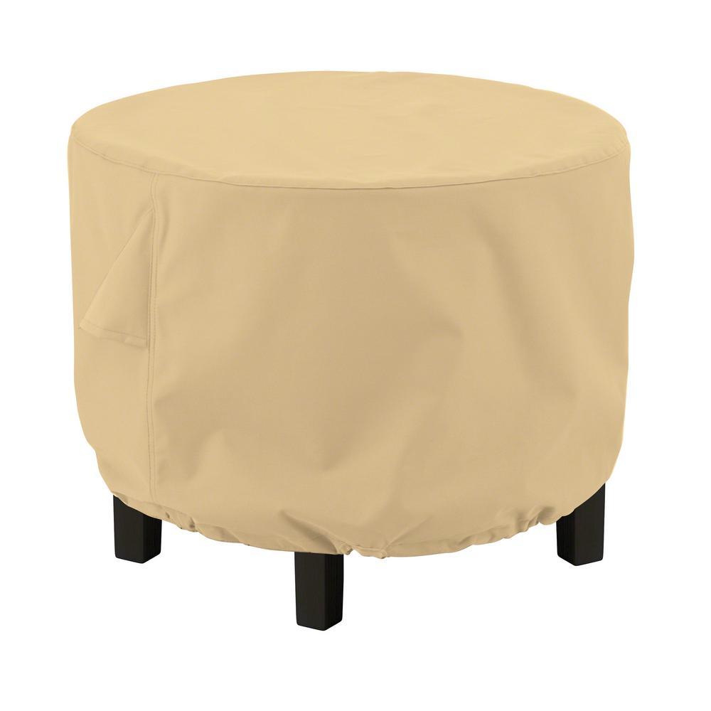 Terrazzo 26 in. L x 26 in. W x 18 in. H Round Ottoman/Coffee Table Cover