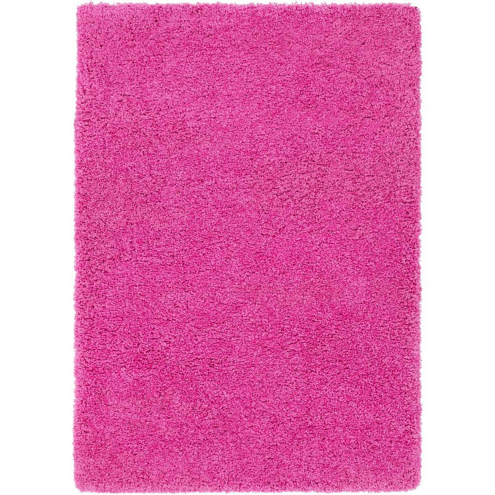 Surya Galaxy Shag Bright Pink 2 Ft. X 3 Ft. Indoor Area