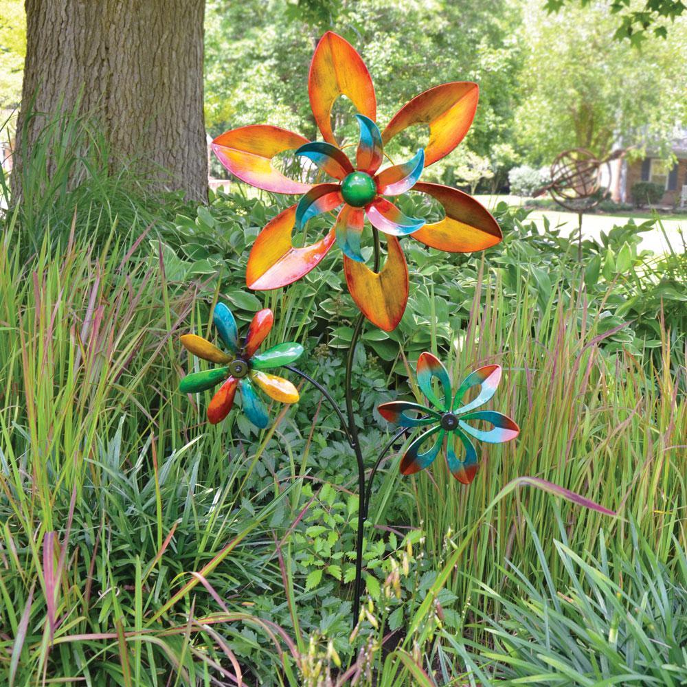 48 in. Spinner Triple Flower Multi Color
