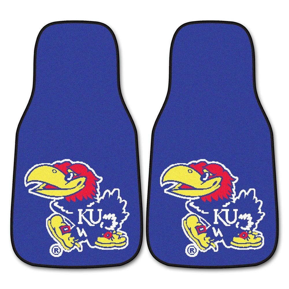 University of Kansas 18 in. x 27 in. 2-Piece Carpeted Car