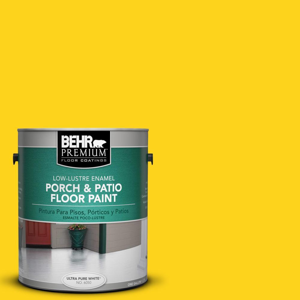 1 gal. #S-G-390 Lemon Zest Low-Lustre Porch and Patio Floor Paint