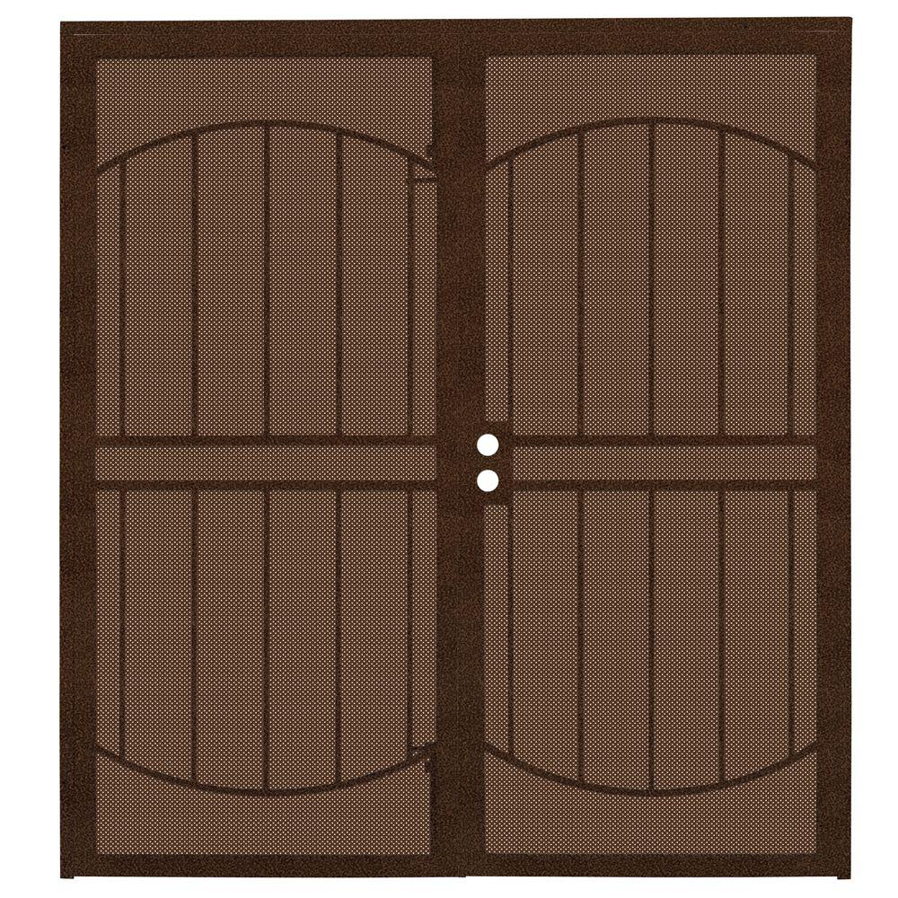 Exterior Screen Doors Home Depot: Unique Home Designs 72 In. X 80 In. ArcadaMAX Copper