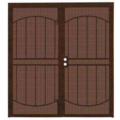 72 In. X 80 In. ArcadaMAX Copper Surface Mount Outswing Steel Security  Double Door
