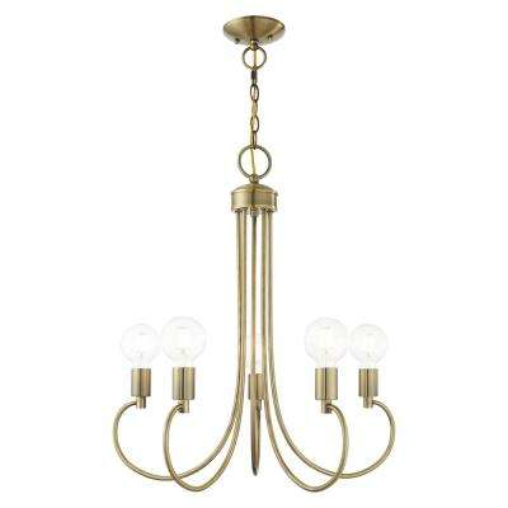 Bari 5-Light Antique Brass Chandelier