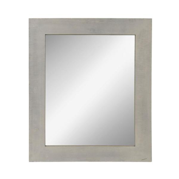 Kate and Laurel Garvey Rectangle Gray Accent Mirror 212662