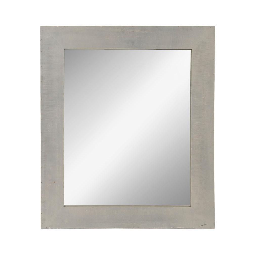Medium Rectangle Gray Classic Mirror (36 in. H x 30 in. W)