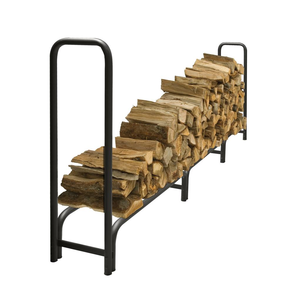 Pleasant Hearth 12 ft. Heavy Duty Firewood Rack with 25-Year ...