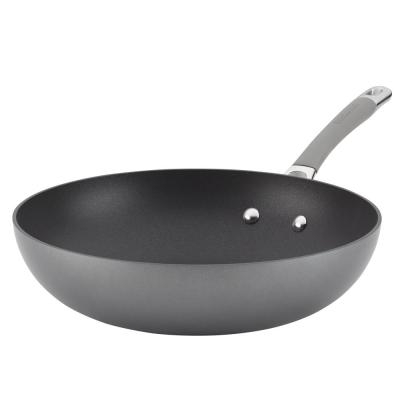 Elementum Hard-Anodized Nonstick Stir Fry, 12-Inch, Oyster Gray