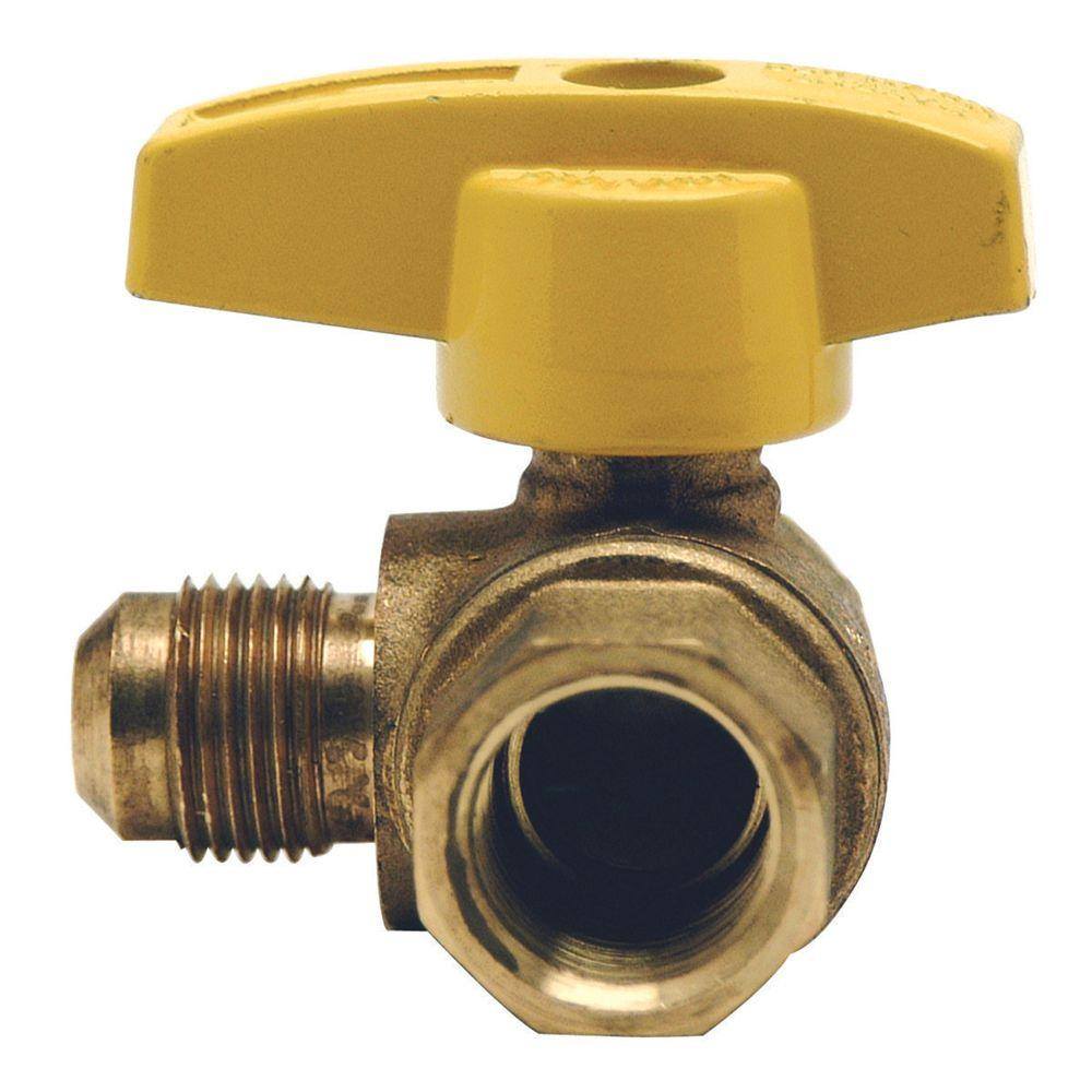 BrassCraft 5/8 in. OD Flare (15/16-16 Thread) x 3/4 in. FIP Angle Gas Ball Valve