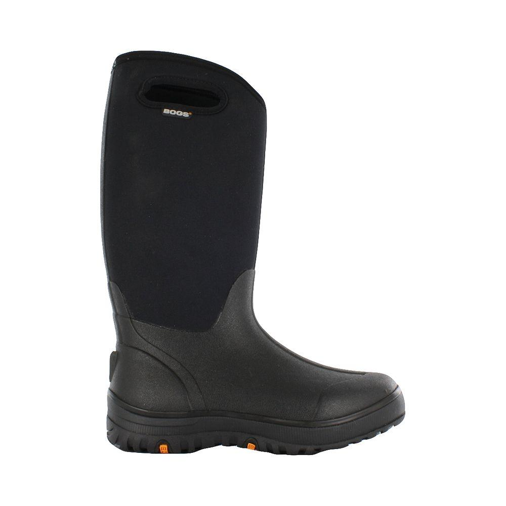 half off adfe1 09778 BOGS Classic Ultra High Women 13 in. Size 11 Black Rubber with Neoprene  Waterproof Boot