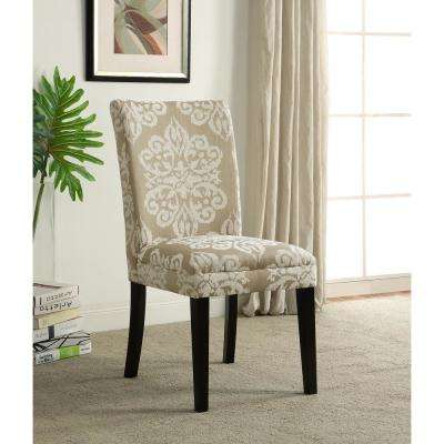 Itaki Taupe and Ivory Parsons Dining Chair