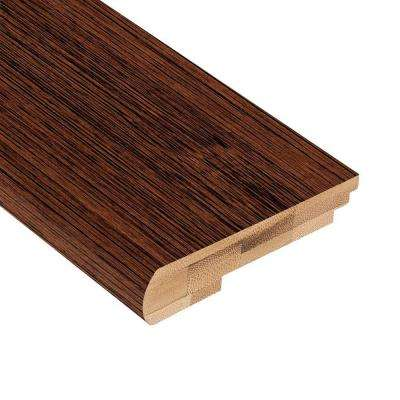 Brushed Horizontal Rainforest 3/8 in. Thick x 3-3/8 in. Wide x 78 in. Length Bamboo Stair Nose Molding