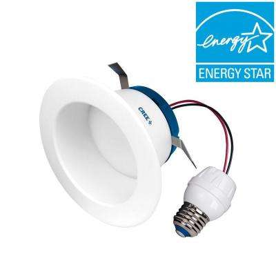 55W Equivalent Soft White (2700K) 4 in. Dimmable LED Retrofit Recessed Downlight