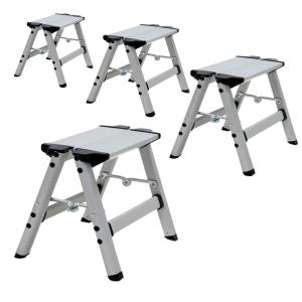 Amazing Amerihome Aluminum Single Step Folding Stool With 325 Lbs Ibusinesslaw Wood Chair Design Ideas Ibusinesslaworg