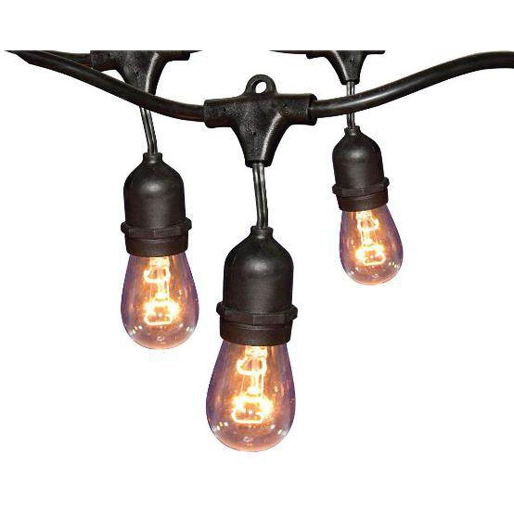 Hampton Bay 24 Ft Black Commercial String Light Gls 14j2
