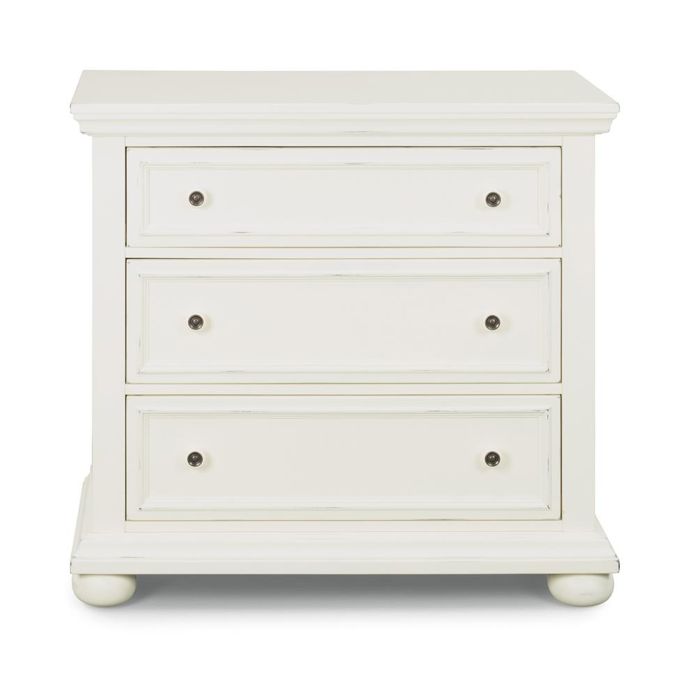 Dover 3-Drawer White Chest