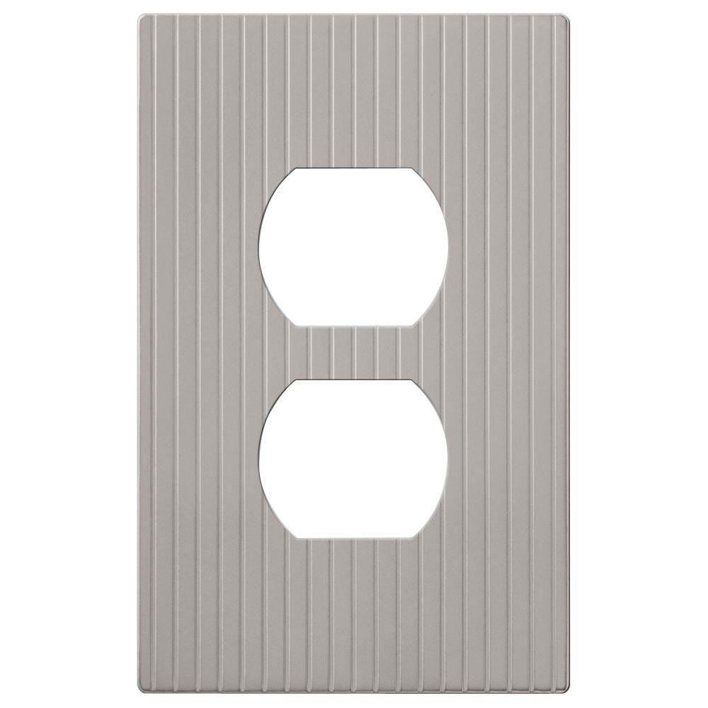 amerelle mies 1 duplex screwless wall plate nickel