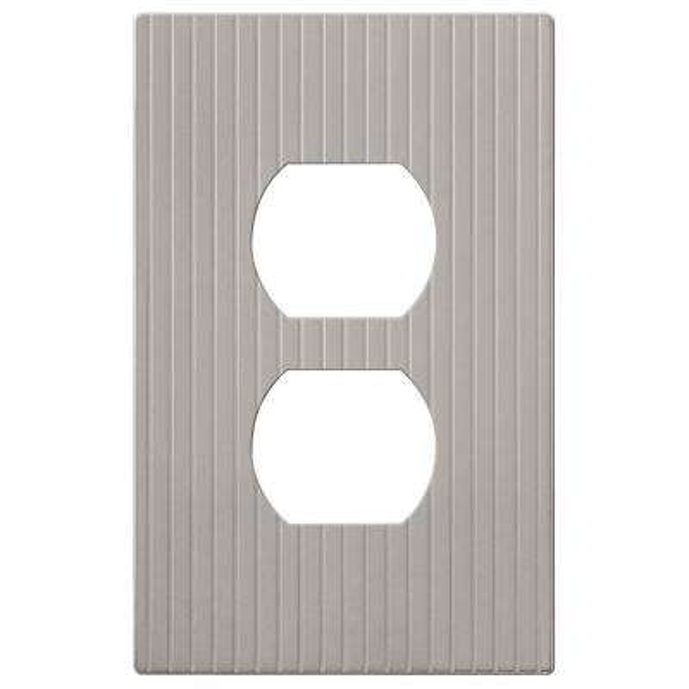 Mies 1 Duplex Screwless Wall Plate - Nickel