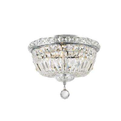 Empire Collection 4-Light Chrome Ceiling Light