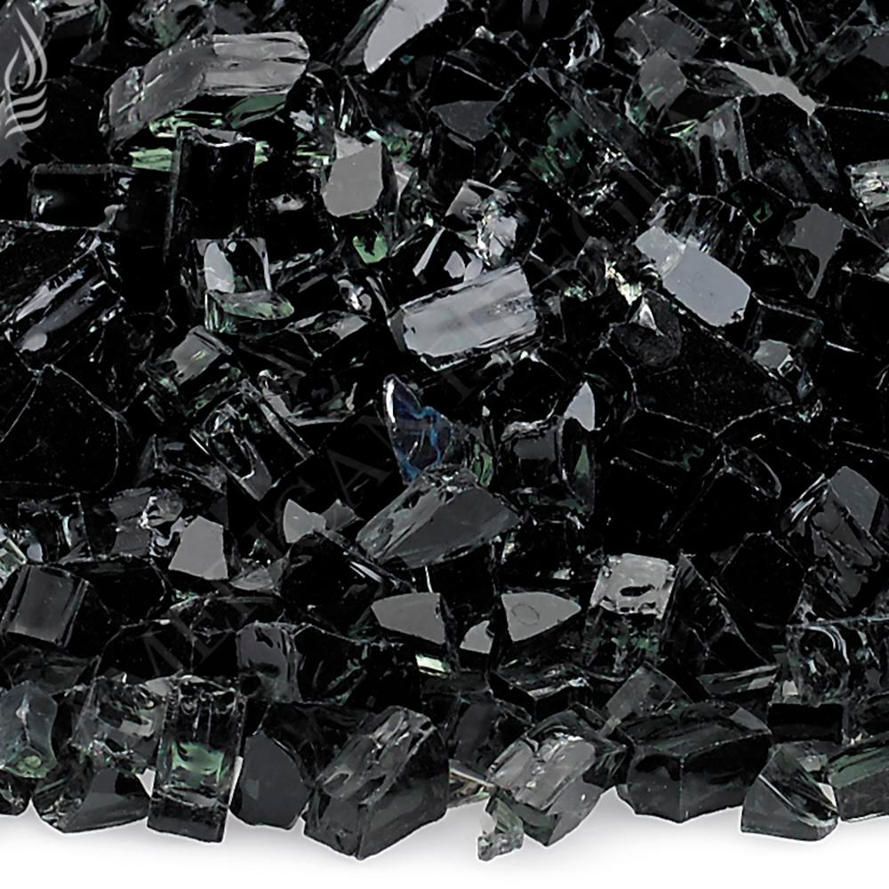 1/4 in. Black Fire Glass 10 lbs. Bag