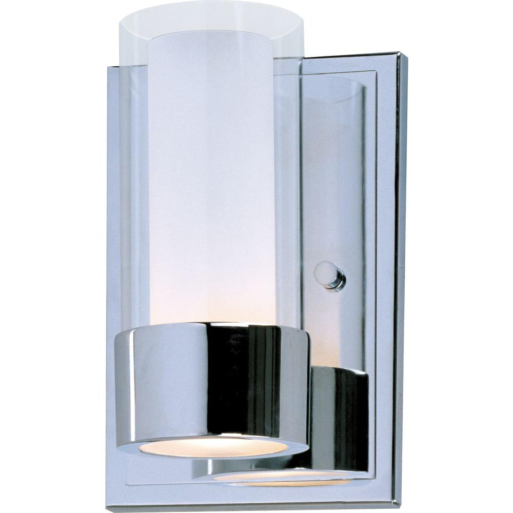 Maxim Lighting Silo 1-Light Polished Chrome Sconce-23071CLFTPC - The ...