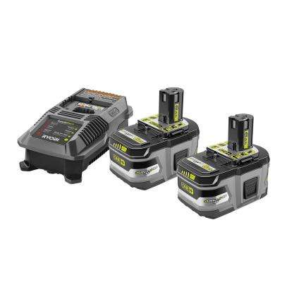 18-Volt ONE+ Lithium-Ion Lithium+ HP 6.0 Ah Starter Kit with ONE+ Lithium-Ion LITHIUM+ HP 4.0 Ah High Capacity Battery