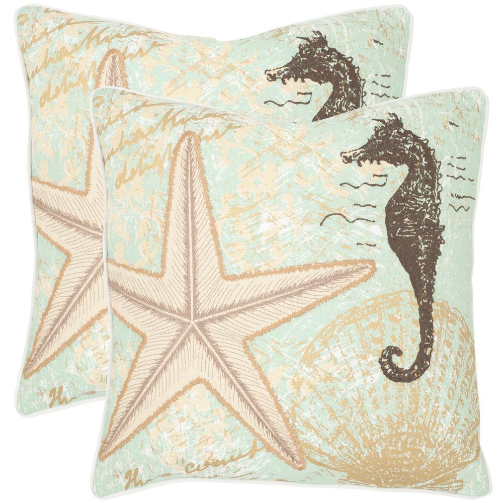 Safavieh Lauren Coastal Pillow (2-Pack)