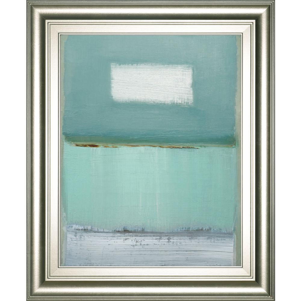 "22 in. x 26 in. ""Azure 1"" by Caroline Gold Framed"